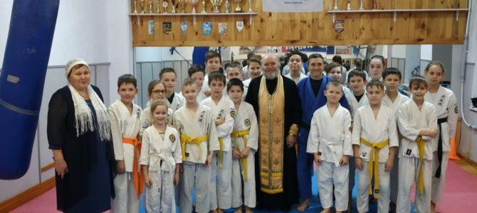 Очередной молебен в клубе каратэ «ИРБИС» г.Ирбит