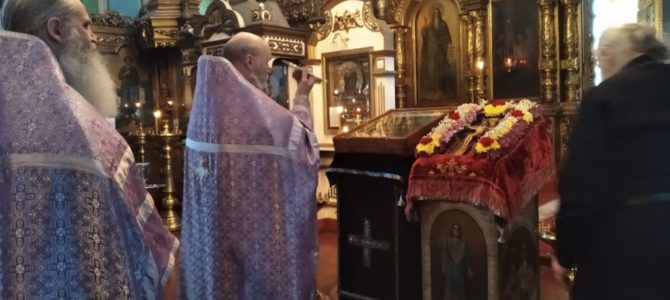 Вечерня накануне Крестопоклонной недели в Свято-Троицком Архиерейском подворье г.Ирбит